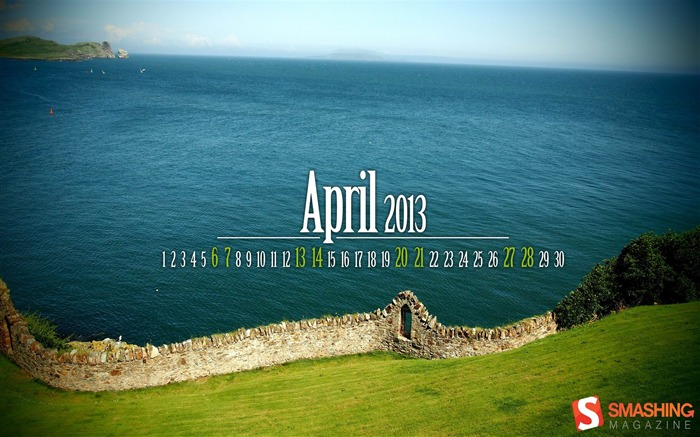 April 2013 calendar desktop themes wallpaper Views:14840