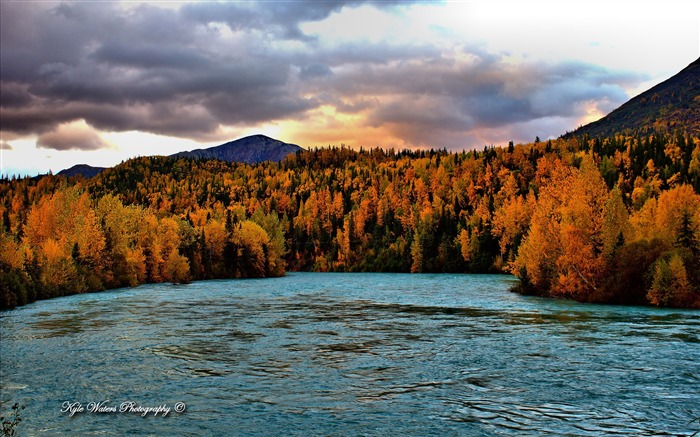 Beautiful Alaska natural scenery desktop wallpaper Views:12493