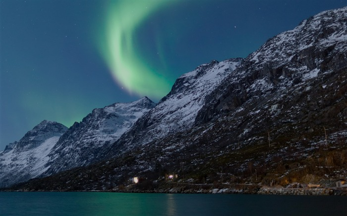 Northern Lights Norway-Beautiful natural landscape wallpaper Views:2633