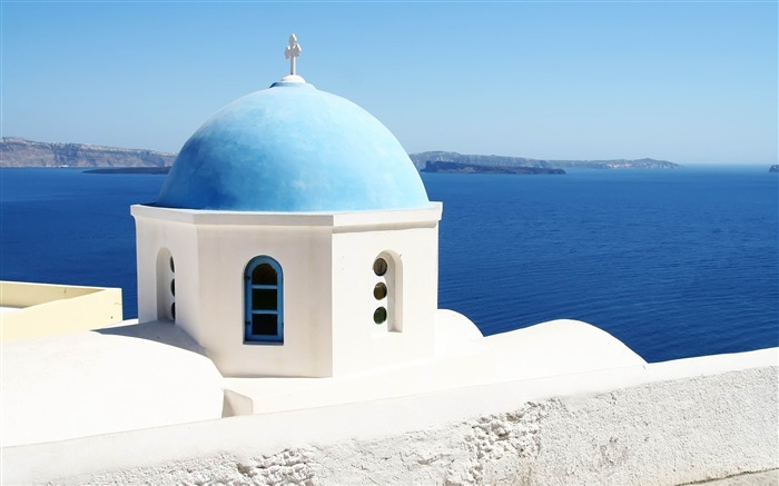 Greece travel landscape photography widescreen wallpaper Views:12934