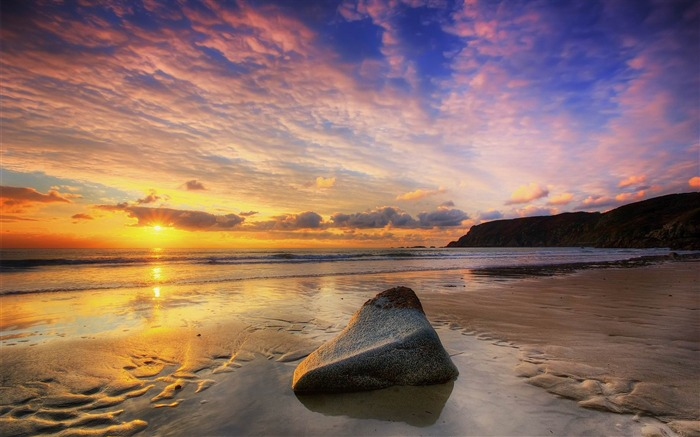 calm summer sunset-Landscape widescreen wallpaper Views:3531