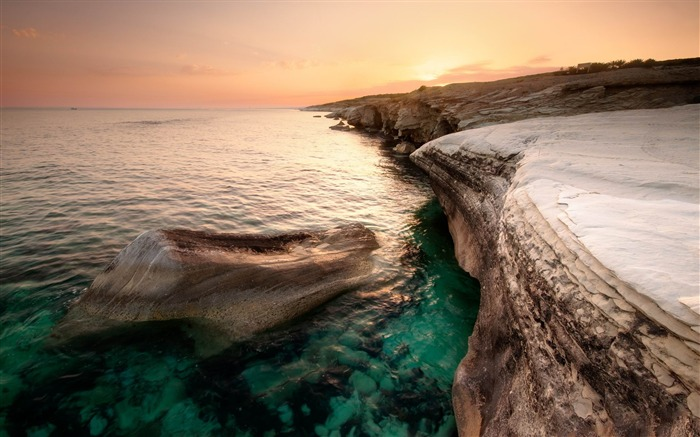 cyprus coast-Landscape widescreen wallpaper Views:3670