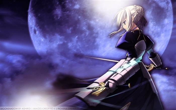 fate stay night saber sky sword moon-Anime design HD wallpaper Views:10416