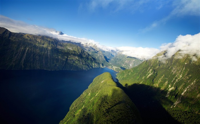 fjord in new zealand-Beautiful natural landscape wallpaper Views:3937