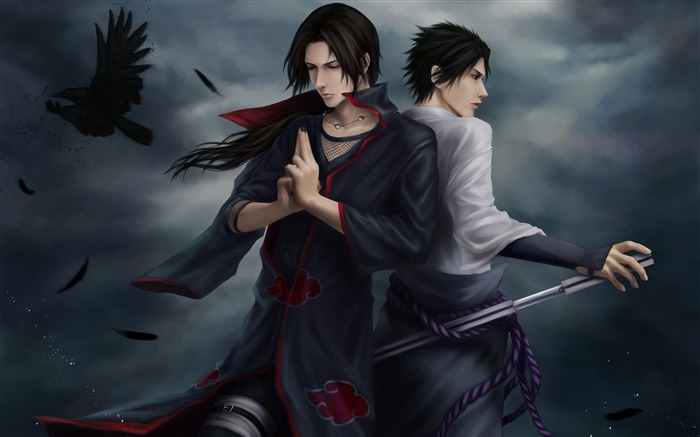 guys meditation crows darkness-Anime design HD wallpaper Views:7832