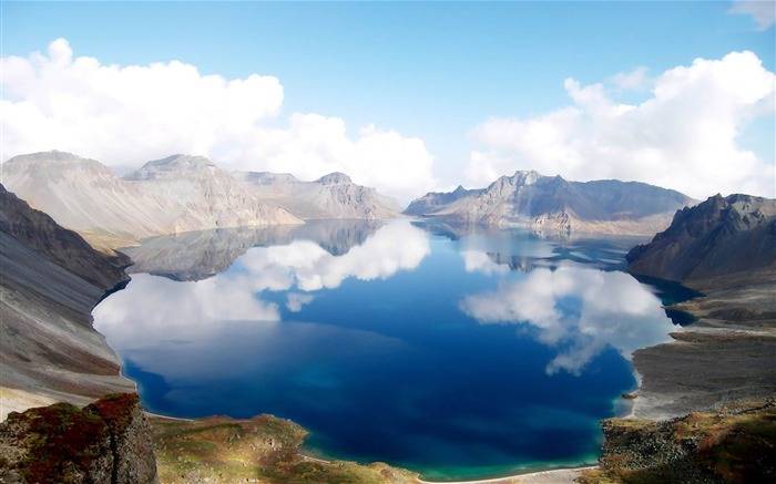 heaven lake china-Landscape widescreen wallpaper Views:2804