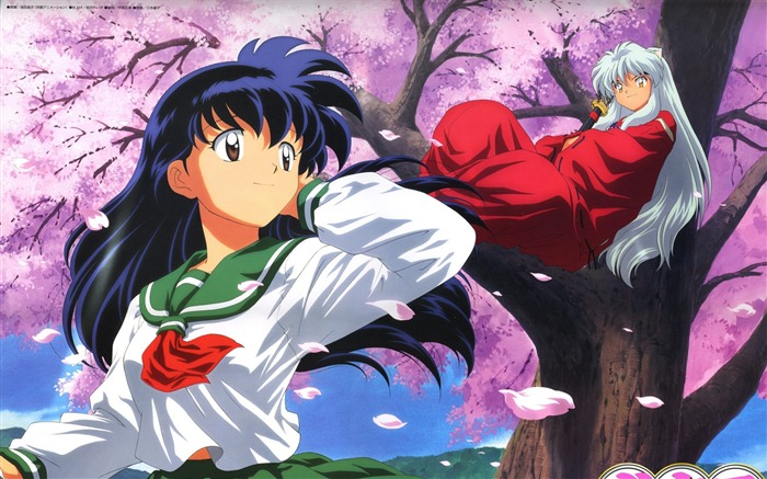 higurashi kagome inuyasha girls-Anime design HD wallpaper Views:31024