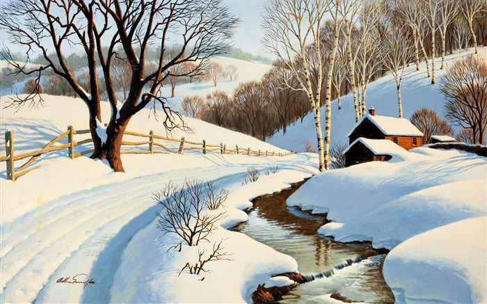 snow is everywhere-Landscape widescreen wallpaper Views:2311