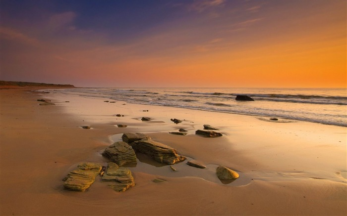 stones on the beach-Landscape widescreen wallpaper Views:1942