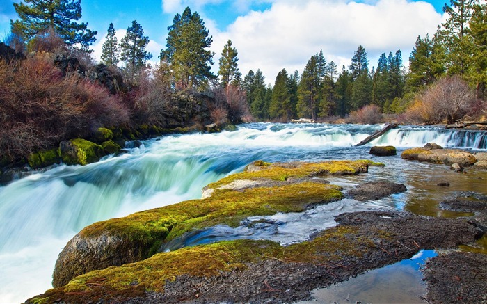 superb cascade-Landscape widescreen wallpaper Views:2468