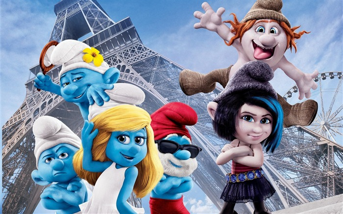 2013 The Smurfs 2 Movie HD Desktop Wallpaper Views:8762