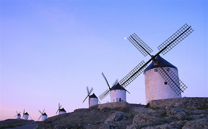 Dutch windmill-Attractive scenery wallpaper Views:3685