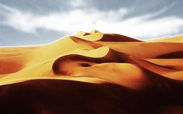 Golden Desert-Attractive scenery wallpaper Views:3950