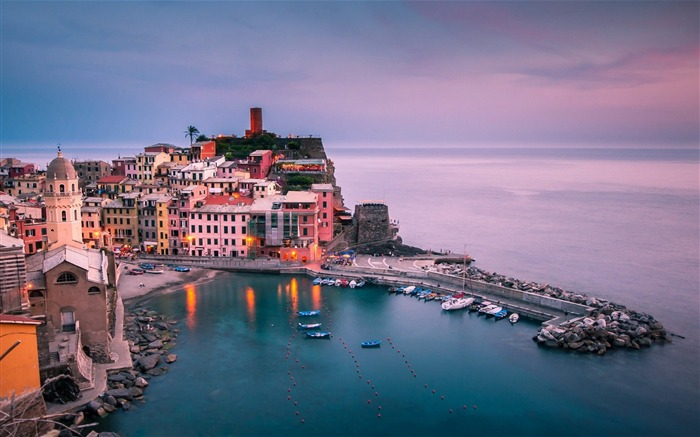 Italie Ligurie Vernazza-city photography HD Wallpaper Views:6752