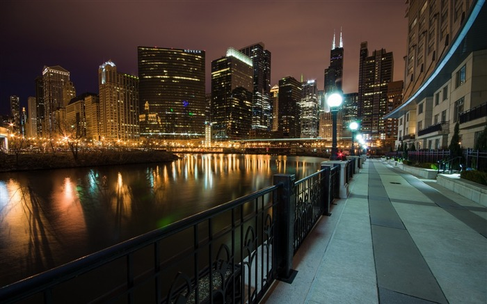 USA Illinois Chicago Wolf Point-city photography HD Wallpaper Views:2858
