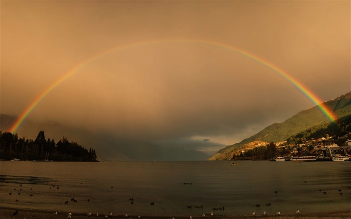 amazing rainbow-Landscape photography wallpaper Views:4797