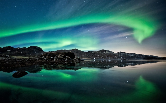 aurora-Landscape photography wallpaper Views:4727