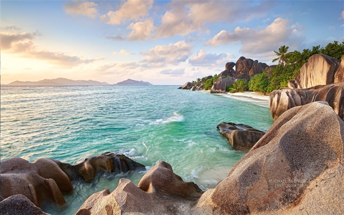 Seychelles island scenery beautiful HD wallpaper Views:18421