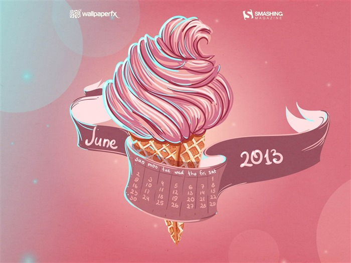 June 2013 calendar desktop themes wallpaper Views:13137