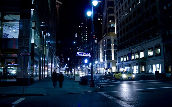 nyc night street new york-city photography HD Wallpaper Views:15595