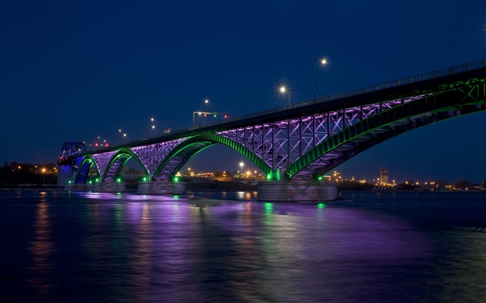 peace bridge city bay bridge night-city photography HD Wallpaper Views:4873