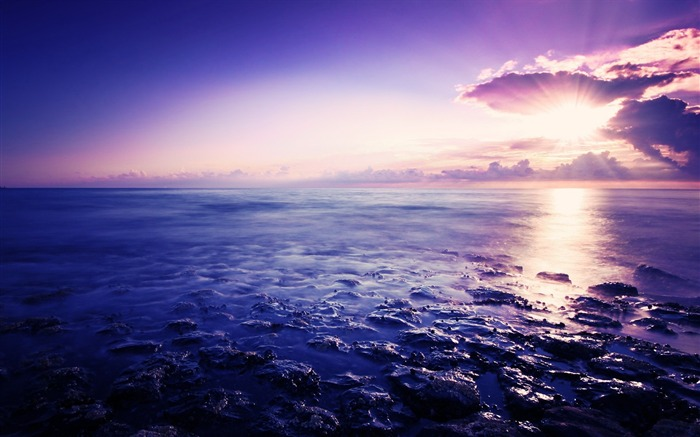 sunrise and sea-Landscape photography wallpaper Views:2667