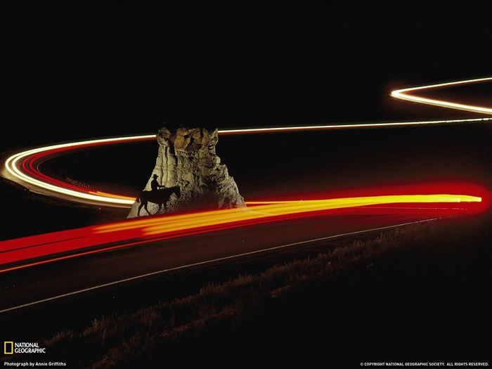 Cowboy and Cars Badlands-National Geographic wallpaper Views:3768