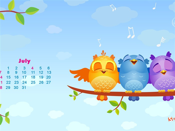 July 2013 calendar desktop themes wallpaper Views:9369