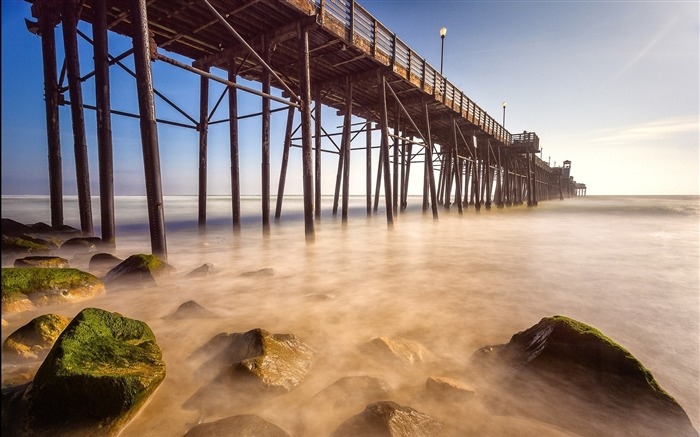 Harbor Beach Mist-Summer landscape HD wallpaper Views:6253