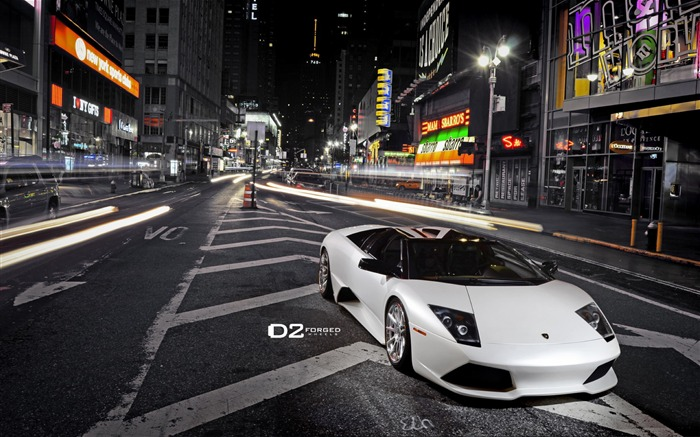Times Square Lamborghini Murcielago LP640 wallpaper Views:7884