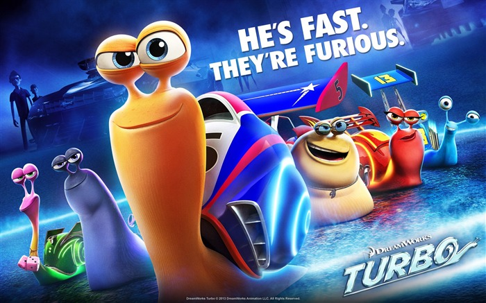 Turbo 2013 Movie HD Desktop Wallpaper Views:7221