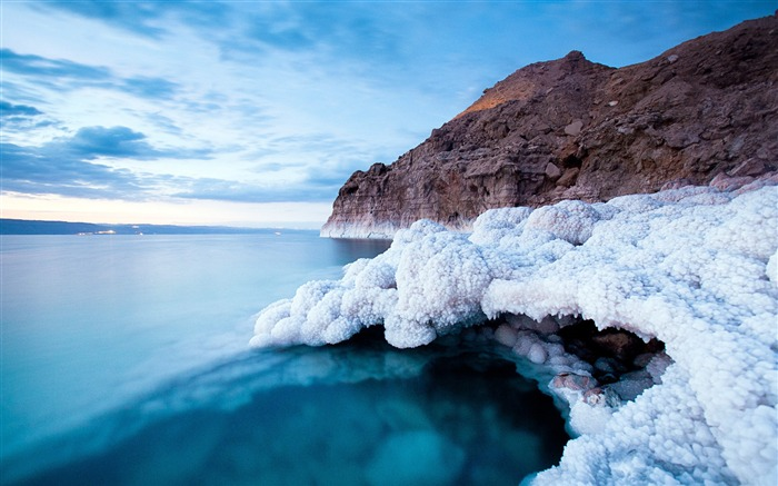 Wonderful views Dead Sea and Salt Lake wallpaper Views:9213