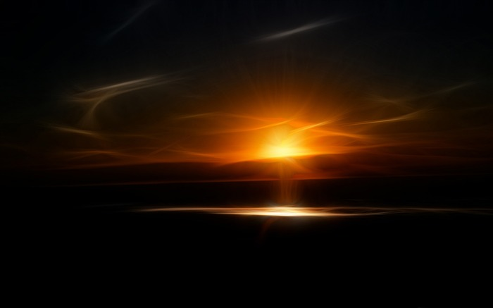 a fractal sundown-Abstract design HD wallpaper Views:4539