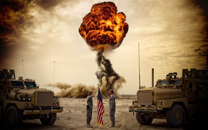 explosion-Military Widescreen Wallpaper Views:6574