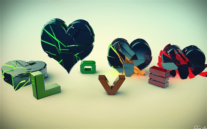 love and heart-Abstract design HD wallpaper Views:4260