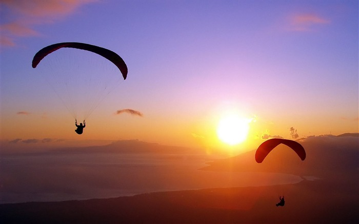 parachute jump decline flight extreme-Sports HD Wallpaper Views:8015
