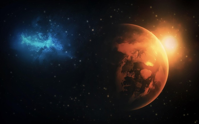 planets stars-Space Discovery HD Wallpaper Views:3333