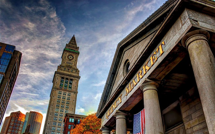 quincy market boston-Cities architectural photo wallpaper Views:3575