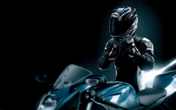 racer black motorcycle helmet-Sports HD Wallpaper Views:7693