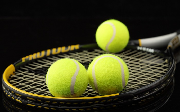 racket balls tennis-Sports HD Wallpaper Views:5580