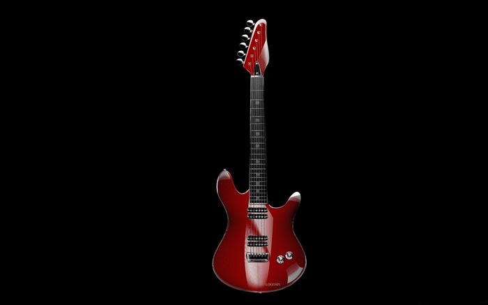 red guitar-Music theme wallpapers Views:2336