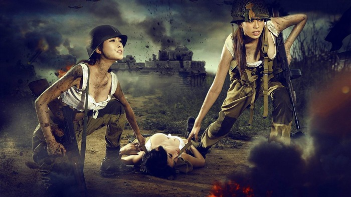 soldiers at war-Military Widescreen Wallpaper Views:4285
