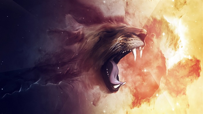 tiger-Abstract design HD wallpaper Views:2004