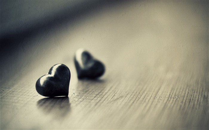two black hearts-Love HD Wallpaper Views:2442