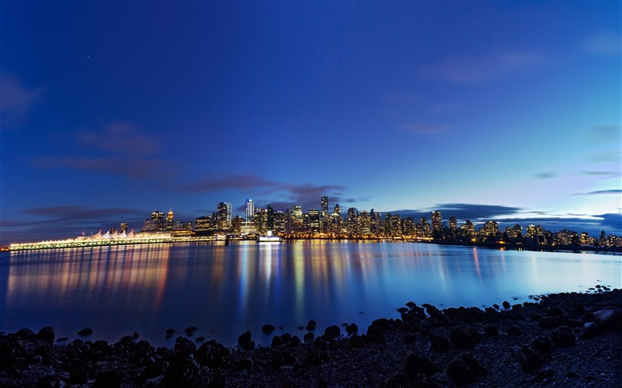vancouver night panorama-Cities architectural photo wallpaper Views:2458