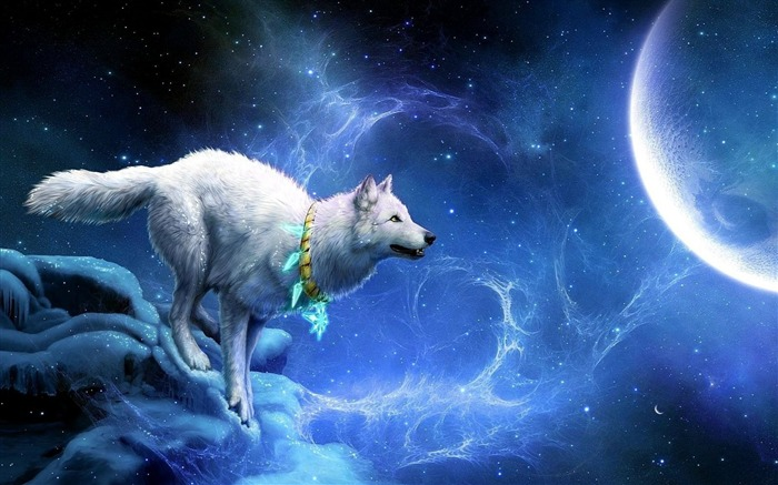 wolf arrivals moon breakage-Fantasy Design HD Wallpapers Views:28309