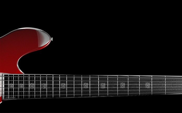 zoom red guitar-Music theme wallpapers Views:2535