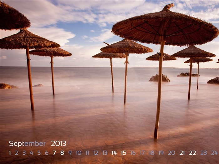 Costa De Los Pinos-August 2013 calendar wallpaper Views:3916