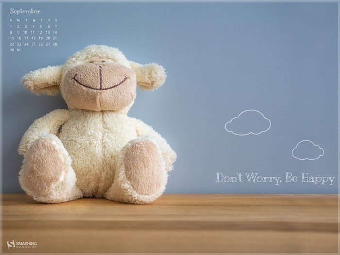 Don t Worry Be Happy-September 2013 Calendar Wallpaper Views:4960