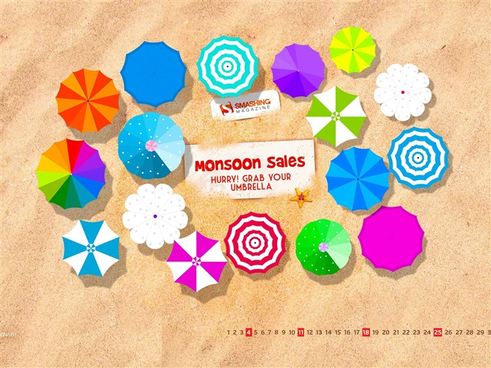 Monsoon Sale-August 2013 calendar wallpaper Views:3564